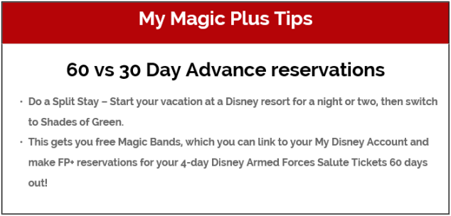 Fastpass+, Shades of Green, and getting 60 days advanced